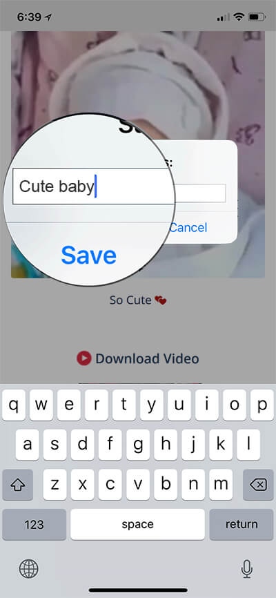 save facebook videos to iphone or ipad
